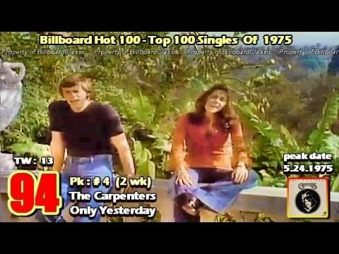 "1975 Billboard Hot 100 ""Year-End"" Top 100 Singles [ 1080p ] - YouTube"