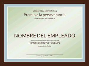 Modelo, formato, ejemplo, plantilla, Diploma Certificado de reconocimiento al trabajador                                                                                                                                                      Más