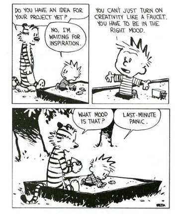 Calvin & Hobbes on writing. so. true.