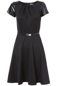 Apricot Faux Leather Sleeve Structured Dress http://www.apricotonline.co.uk/mall/productpage.cfm/womensclothing/_5051839134362/461694/Faux-Leather-Sleeve-Structured-Dress