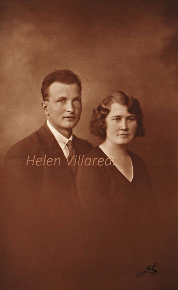 Beautiful Vintage Digital image of young couple my grandparents