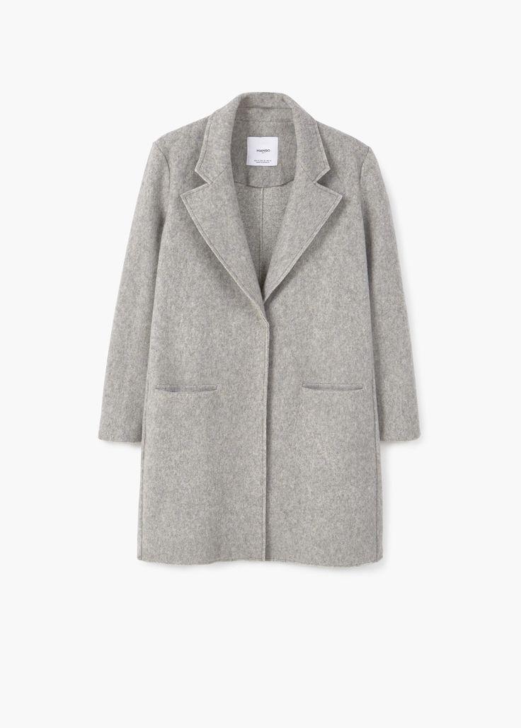 Textured lana-blend coat | MANGO
