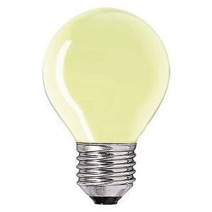 Kogel-lamp  15 watt E27 geel