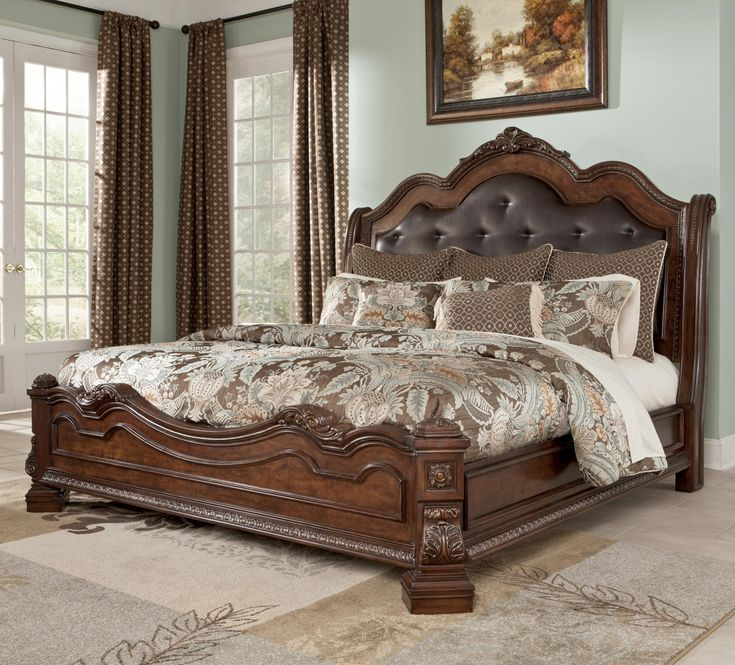 King Size Bed Frame With Headboard - http://www.atentevent.net/king-size-bed-frame-with-headboard/ : #Headboards Standard King Size mattress measures 76 by 80 inches. A California king, sometimes called a Western king is four longer to accommodate more height inches, but 4 inches narrower. If king size bed frame with headboard you have a standard king size headboard, it can be converted to a California...