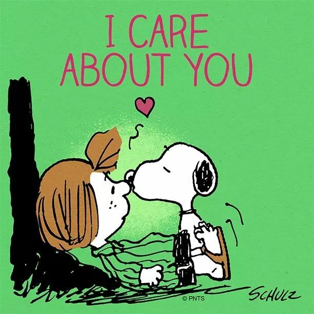 Snoopy I care about you