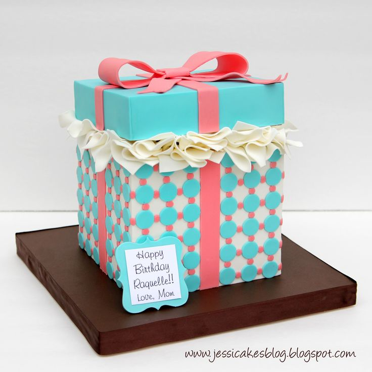 Cake Gift Box Fondant : 17 best ideas about Gift Box Cakes on Pinterest Happy ...