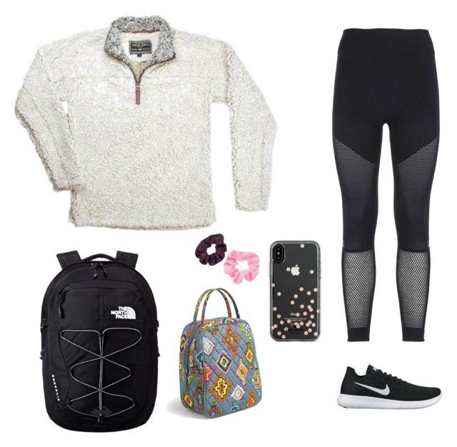 """Untitled #64"" by ashlynnebagnal ❤ liked on Polyvore featuring adidas, NIKE, The North Face, Vera Bradley, Kate Spade and Mudd"