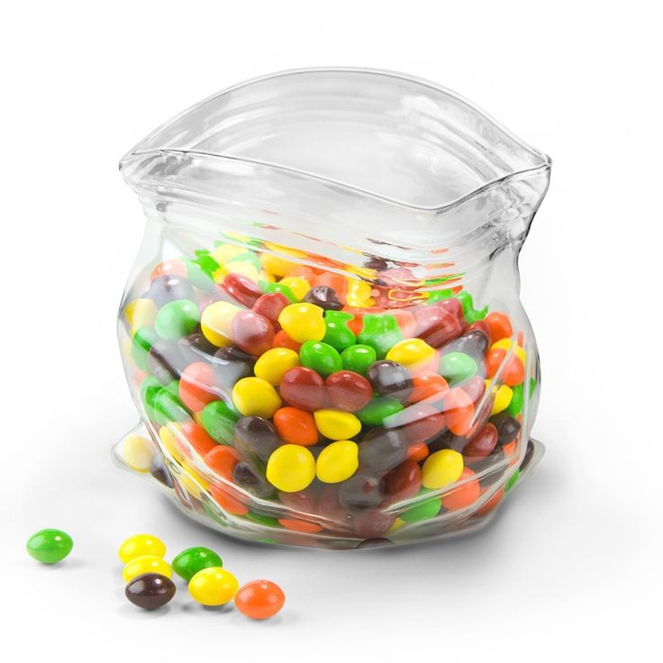 Let your eyes fool you. Part peanut and candy bowl, part optical illusion, the Glass Candy Dish makes a versatile home for both knickknacks and favorite snacks. Delight in its realistic folded edges, stable flat base, and durable construction.