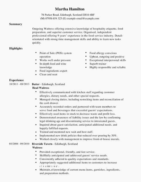 professional highlights resume examples