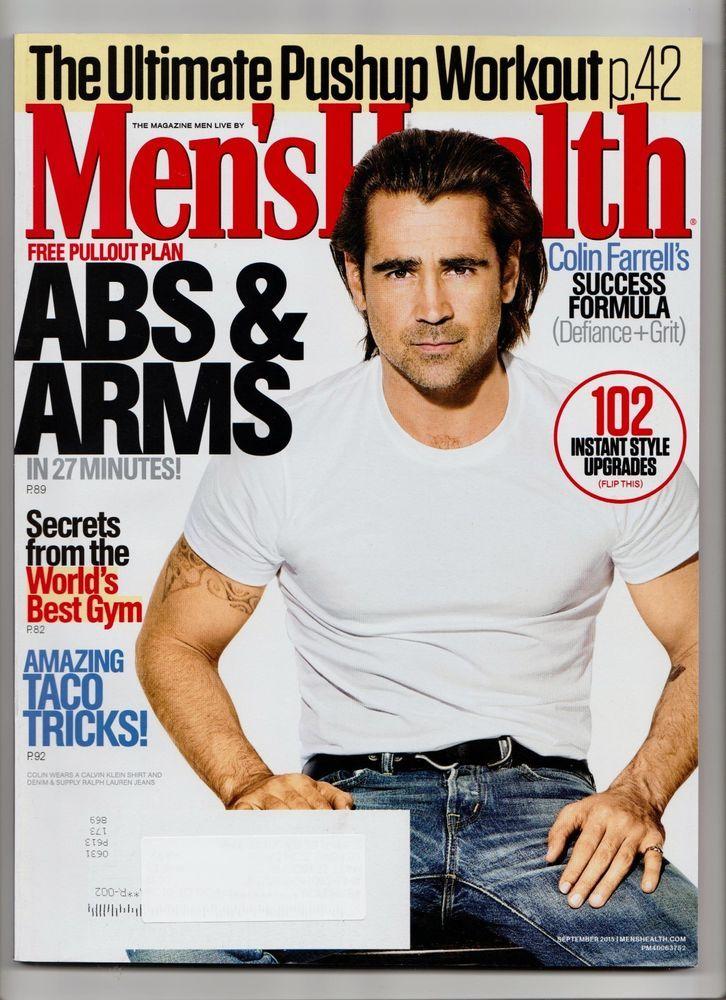 MENS HEALTH September 2015 LKNEW - ABS & ARMS, Colin Farrell's Success Formula