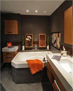 Bathrooms on Pinterest | Orange Bathrooms, Brown Bathroom Decor ...