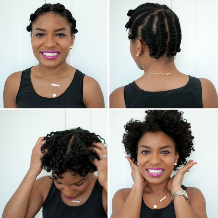Flat Twist Out on Short Hair: Photo Tutorial   via The Feisty House