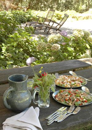 Late Summer Outdoor Lunch