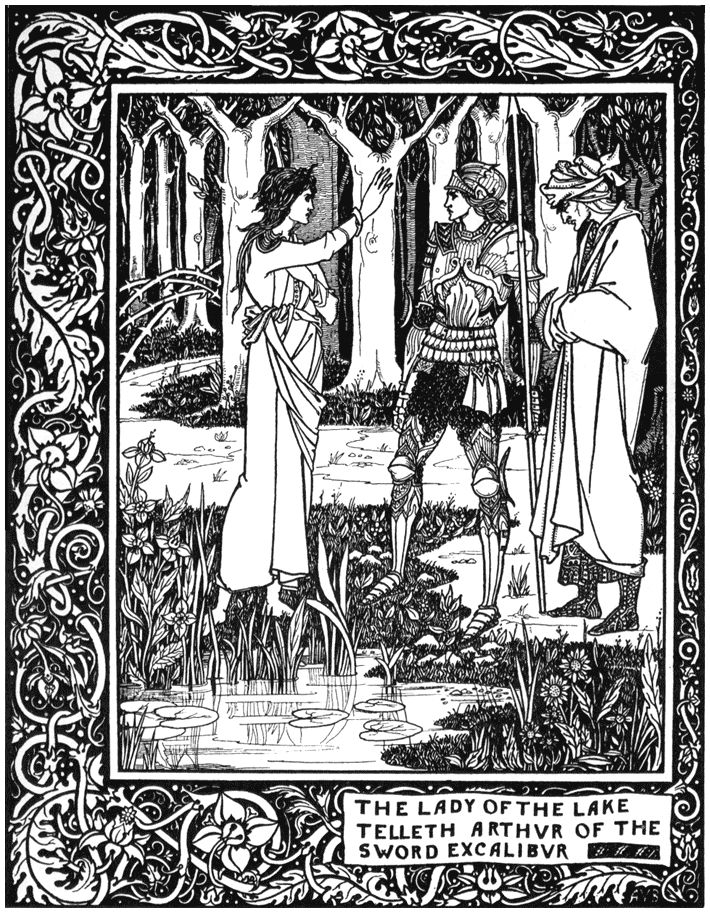 Aubrey Beardsley. Merlin, Arthur and Nimoe