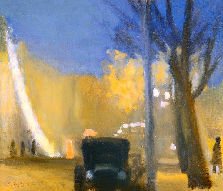Clarice Beckett, «Collins Street, evening»