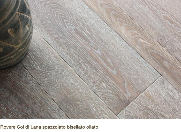 Rovere Col di Lana spazzolato, bisellato, oliato. ByPavidea Srl - Pavimenti in legno
