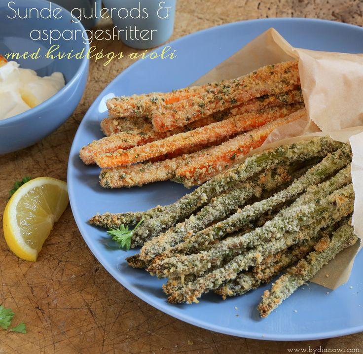 sunde gulerods- og aspargesfritter med hvidløgs aioli, BY DIANAWI
