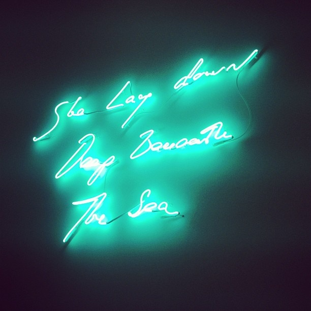 Tracey Emin exhibition @ The Tate in Margate