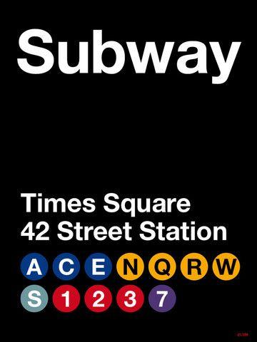 NY Poster #nyc #subway #timessquare Massimo Vignelli