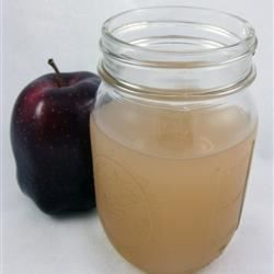 You can use the apple peels and cores left over from making an apple dish to make a delicious, low-budget apple drink. Just be sure to take out the seeds.