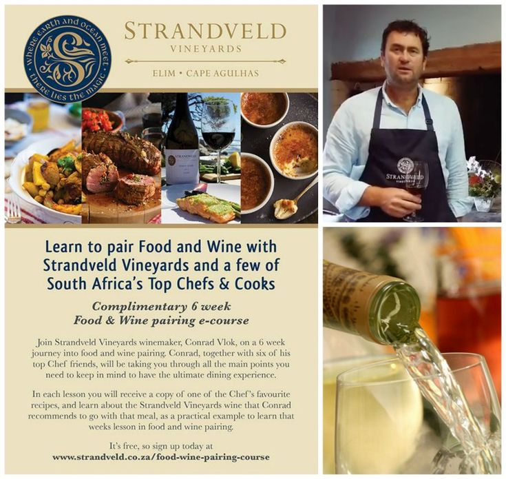 Free food and wine pairing e course. Register today on  http://bit.ly/StrandveldCourse