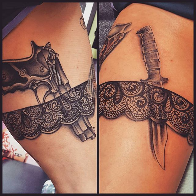 gun tattoo on hip - Google-haku