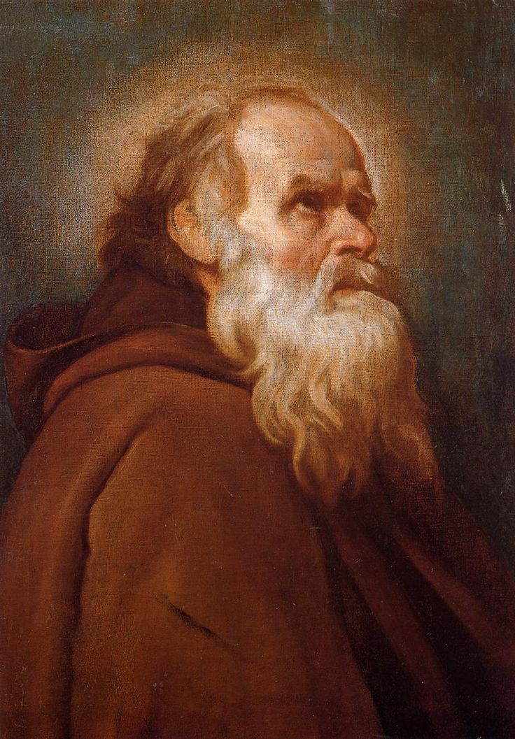 "Diego Velazquez: ""St. Anthony Abbot"",1638. (Private Collection)"