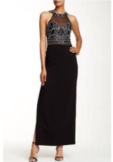 SUE WONG N16163NM Beaded Empire Waist Grecian Halter Neck Gown Size 2 $498 NWT #SueWong #EmpireWaistSheathGown #ClubwearCocktailFestive