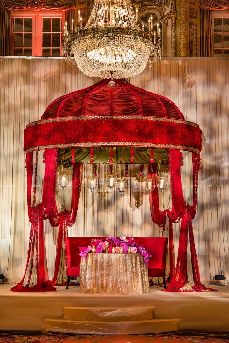 594 best mandaps images on pinterest indian bridal wedding mandap luxe red fabric indian wedding mandap photo by kent drake photography design by hmr junglespirit Images