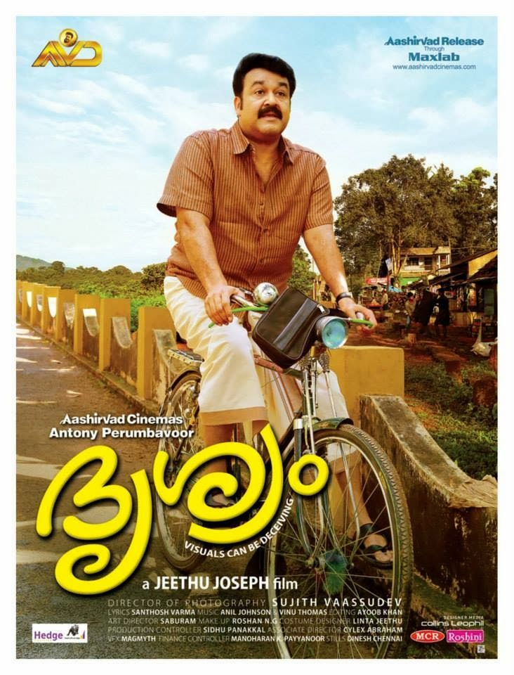Drishyam is lalettan's unreal experience on screen for u!Jeethu Joseph is the genius who made this movie!Then,legendary actor kamal hasan remade it in Tamil in which lalettan's son worked as an assistant director!Sadly these nice people gave the rights for bwood to remake it&cheesy songs were added w/ all the wrong other things to completely take away the point of the movie&totally ruin it!This movie's caption was something like seee it to believe it,which bwood clearly didn't even…
