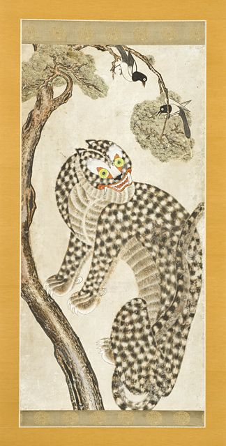 Tiger, Magpies, and Pines Korea, 19th Century The Los Angeles County Museum of Art