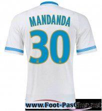 Maillot Du Olympique Marseille OM Blanc MANDANDA 30 Domicile 15 2016 2017 Pas Chere
