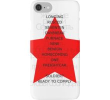 Winter Soldier Trigger Words iPhone Case/Skin