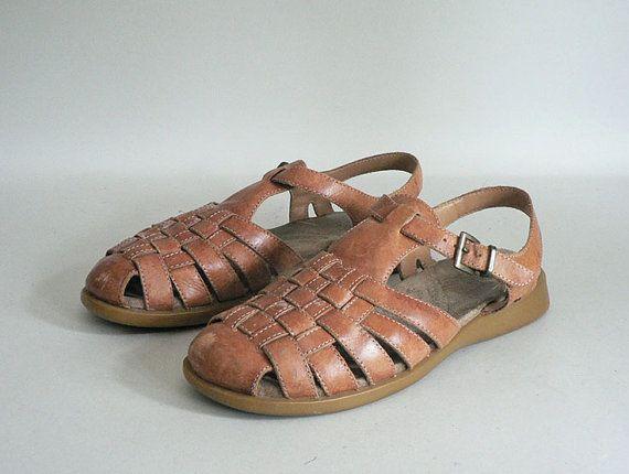 Size 9.5 Womens Huarache Woven Sandals by ElektraAndPlato on Etsy