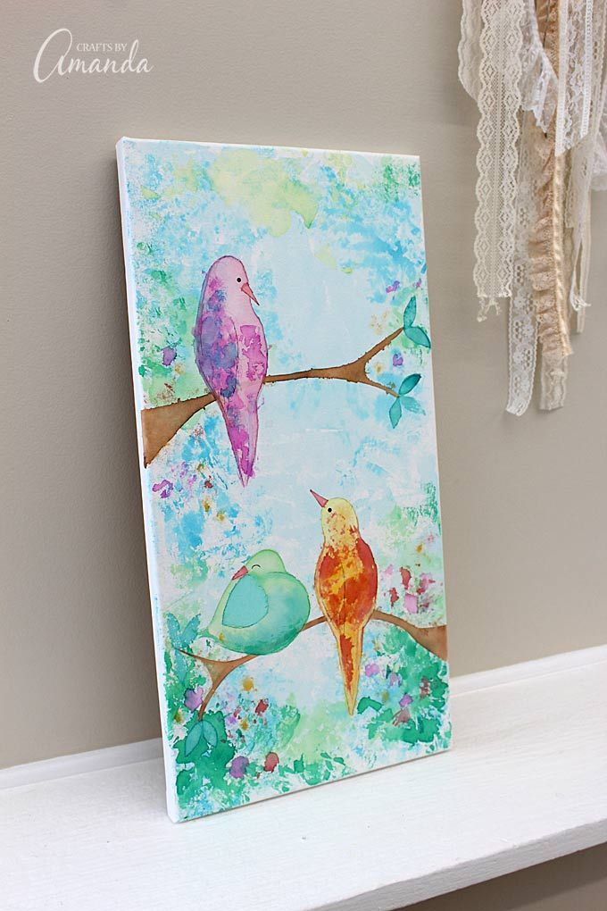 Wall Art Using Paper : Create this wall art without paint use tissue paper