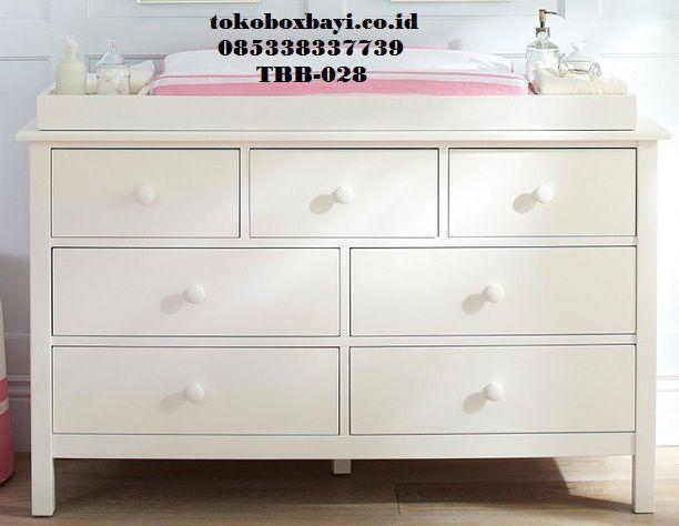 Baby Tafel Cat Duco Shabbychic - Jual Meja Ganti Popok Bayi Warna Putih Model Terbaru harga murah produck by tokoboxbayi.co.id
