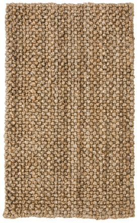 Classic Home Braided Jute Knobby Loop Natural Rug