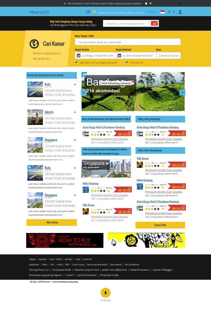 Pertama kali sukses bikin template dan dibayar klien.  situs pesan tiket online (khusus africa)