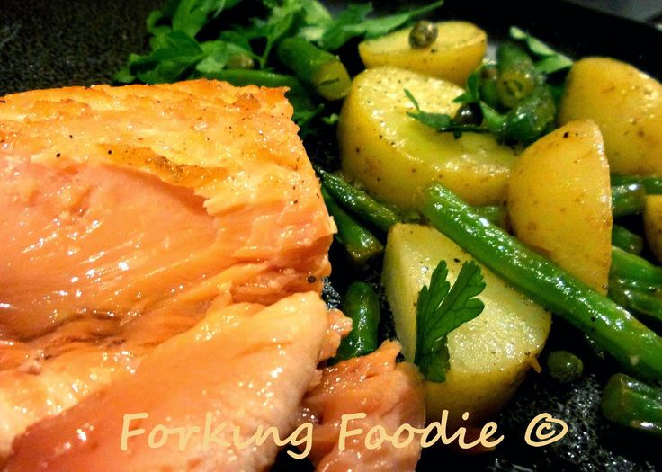 Delicious, moist and tender salmon cooked sous vide in the Thermomix to perfection, a la Heston Blumenthal!