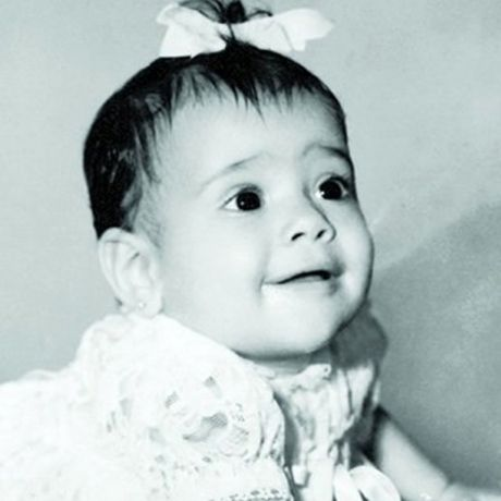 This beautiful baby grew up to to be one of Hollywood's most sultry leading ladies!  Salma Hayek