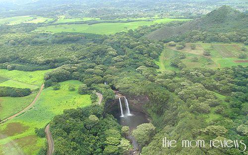 Waterfalls from the opening of Fantasy Island, Kauai