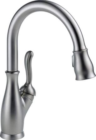 Delta 9178-DST Leland Pull-Down Kitchen Faucet with Magnetic Docking Spray Head Arctic Stainless Faucet Kitchen Single Handle