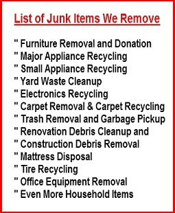 Junk Removal & Trash Removal Lowest Rates