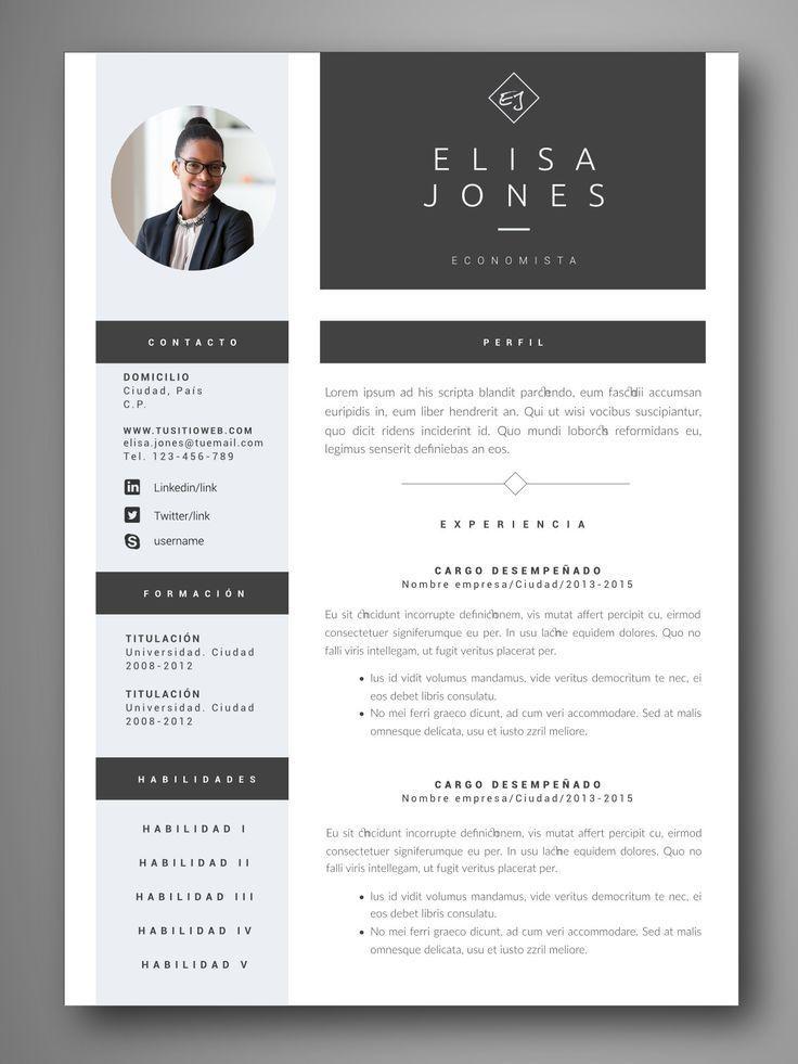 Descarga Plantillas Editables De Curriculum Vitae Cv Visuales Y Profesionales Facil Edicion En W Curriculum Vitae Design Curriculum Design Curriculum Vitae