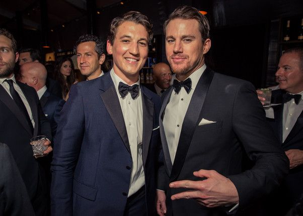 Miles Teller, Channing Tatum - Vanity Fair Oscar party 2015