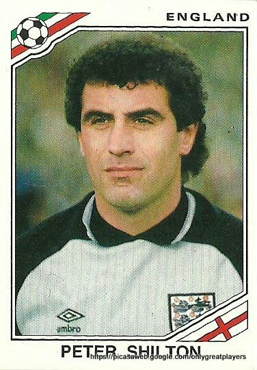 Peter Shilton of England. 1986 World Cup Finals card.