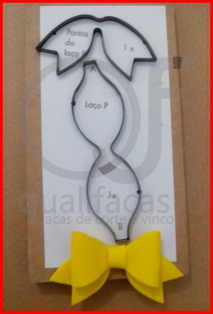 Faca de corte para laço  Tamanho dele pronto 9x6cm  Tempo de produção 10 dias