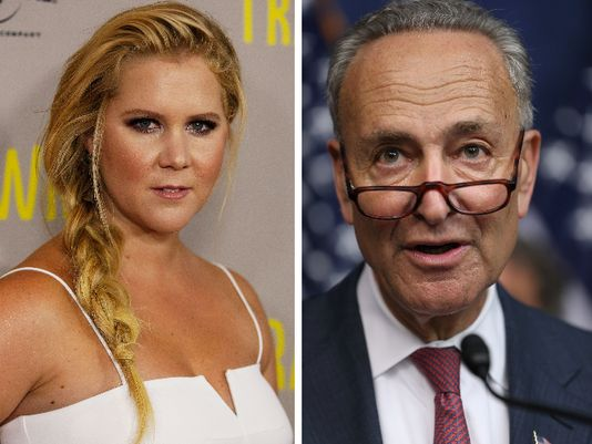 Amy Schumer and cousin Senator Chuck Schumer work together to outlaw gun violence after shooting during Trainwreck -USA Today
