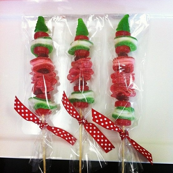 Christmas Candy kabob Skewers. $19.95, via Etsy.