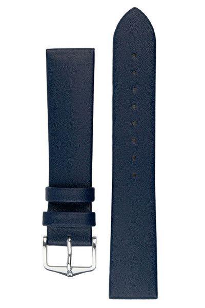 Hirsch Diamond Calf Scratch Proof Watch strap lengths in Blue